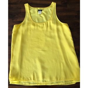 Yellow J. Crew Loose Tank